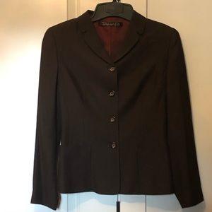 Tahari Brown Blazer Size 4